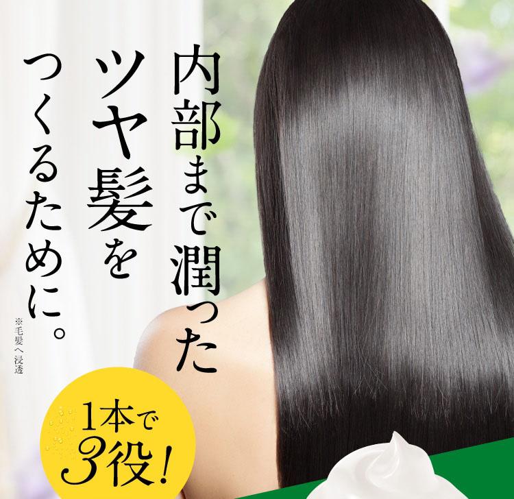内部まで潤ったツヤ髪をつくるために。